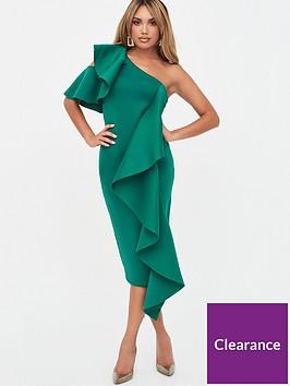 lavish-alice-ruffle-cold-shoulder-scuba-midi-dress-green