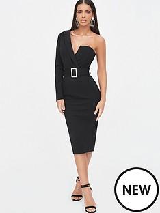 lavish-alice-one-sleeve-tux-midi-dress-black