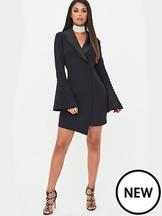 lavish-alice-button-detail-blazer-mini-dress-black