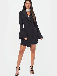 lavish-alice-x-rosie-connolly-button-detail-blazer-mini-dress-black