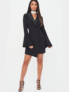 lavish-alice-x-rosie-connolly-button-detail-blazer-mini-dress-black