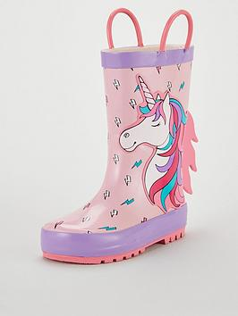 V by Very V By Very Unicorn Wellie - Pink Picture