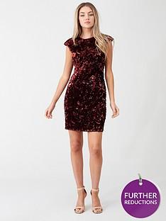 little-mistress-velvet-floral-mini-dress-red
