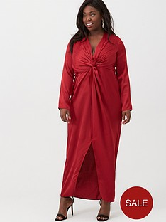 little-mistress-curve-v-neck-maxi-dress-ruby