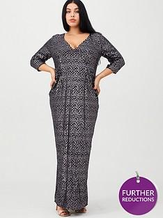 little-mistress-curve-v-neck-sequin-maxi-dress-purple