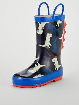 V by Very V By Very Dinosaur Wellie - Navy Picture