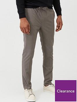 very-man-slim-houndstooth-check-joggers-grey