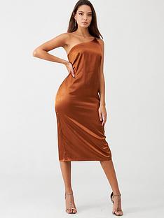 little-mistress-satin-one-shoulder-midi-dress-rust