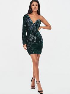 lavish-alice-velvet-sequin-one-shoulder-dress-emeraldnbspgreen