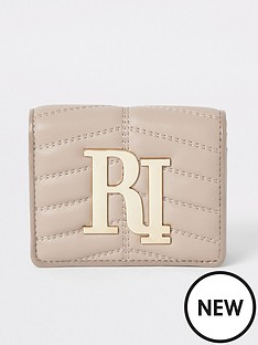 dc079df18 River Island River Island Quilted Branded Purse - Beige