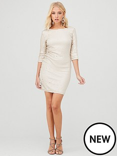 little-mistress-mini-sequin-dress-cream