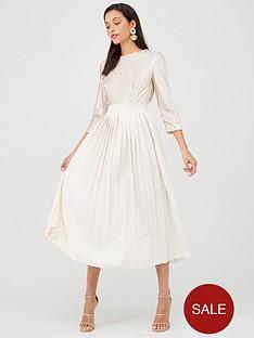 little-mistress-sequin-pleated-hem-midi-dress-cream