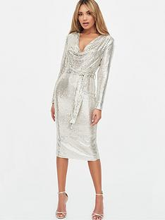 lavish-alice-sequin-on-stretch-mesh-cowl-neck-midi-dress-silver