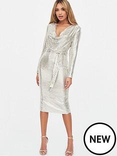 lavish-alice-sequin-on-stretch-mesh-cowl-neck-midi-dress-silver