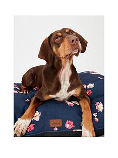 joules-floral-print-collection-mattress-dog-bed-navy