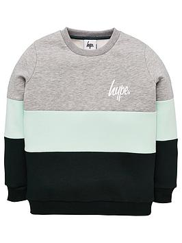 hype-boys-colour-block-crew-neck-sweatshirt-green