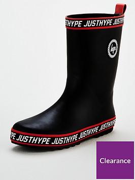 hype-boys-taped-wellington-boots-black