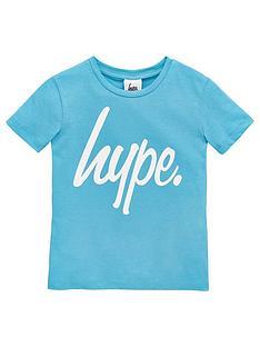 hype-boys-script-short-sleeve-t-shirt-blue