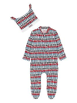 cath-kidston-baby-boys-guards-sleepsuit-and-hat-set-cream