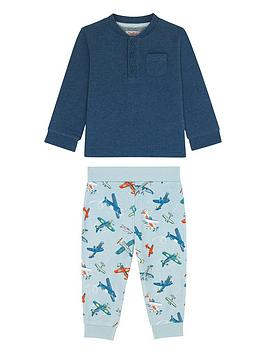 cath-kidston-baby-boys-airshow-sweat-and-jog-pant-set-light-blue
