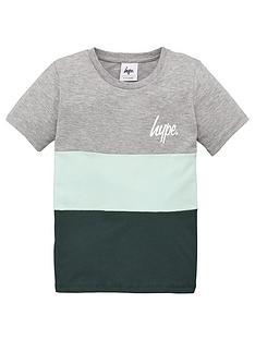 hype-boys-colour-block-short-sleeve-t-shirt-green