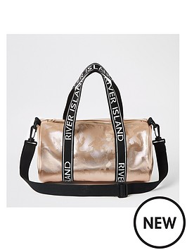 river-island-girls-camo-holdall-bag-rose-gold