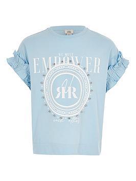 river-island-girls-diamante-print-t-shirt-blue