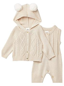 river-island-baby-knitted-all-in-one-and-cardi-set-cream