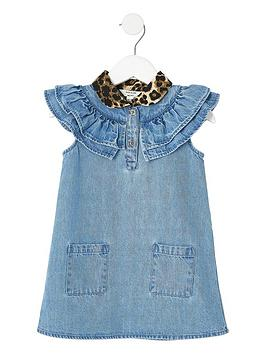 river-island-mini-mini-girls-leopard-print-collar-dress-denim