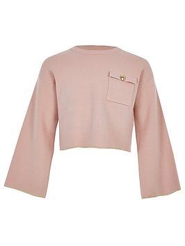 river-island-girls-utility-knit-crop-jumper-pink