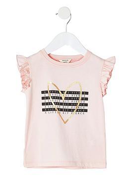 river-island-mini-mini-girls-a-little-bit-fierce-t-shirt-pink