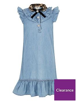 river-island-girls-leopard-collar-denim-dress-blue