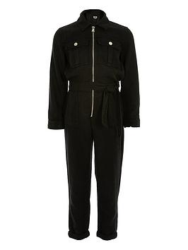 river-island-girls-utility-jumpsuit-black