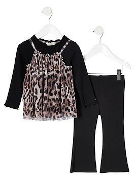 river-island-mini-mini-girls-leopard-mesh-top-outfit-black