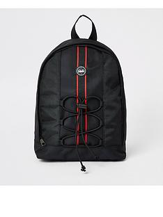 river-island-boys-rvr-tape-large-backpack-black