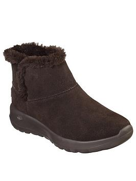 Skechers Skechers On The Go Joy Faux Fur Lined Ankle Boot - Chocolate Picture