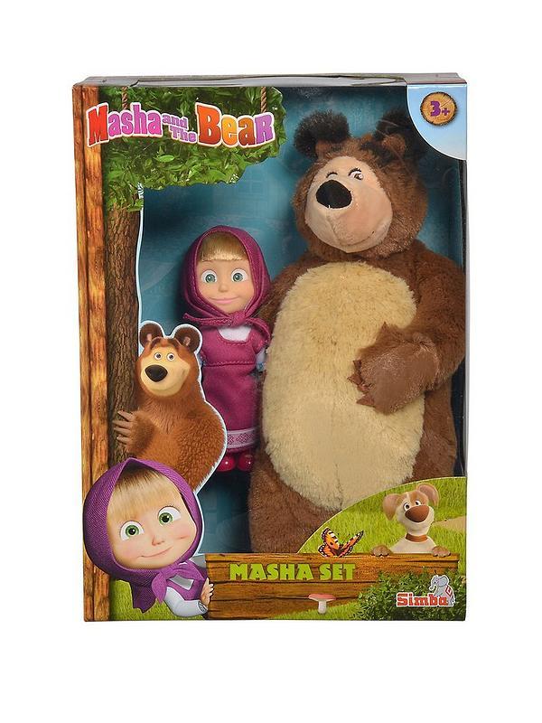 Masha The Bear Masha Plush Bear Doll Set