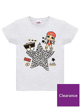 lol-surprise-toddler-girls-leopard-rock-top-grey-marl