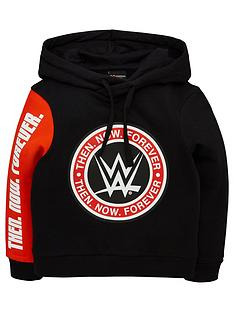 wwe-boys-colour-block-hoodie-redblack