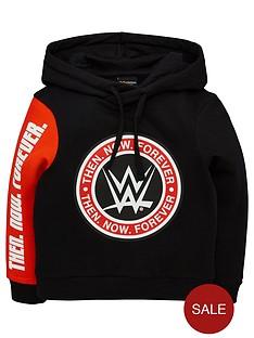 wwe-boys-colour-block-hoodie-redblack