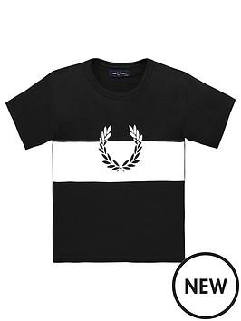 fred-perry-boys-wreath-colour-block-short-sleeve-t-shirt-black
