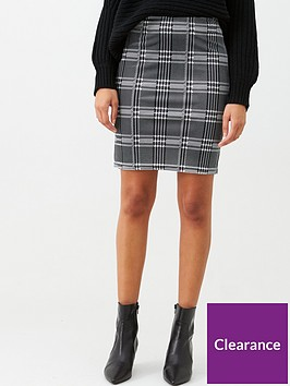 v-by-very-check-mini-skirt-black-white