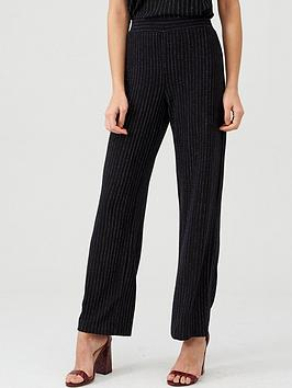 V by Very V By Very Lurex Stripe Co Ord Trouser - Black Picture