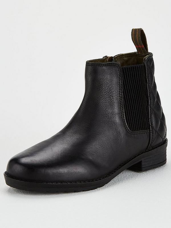 reliable quality good quality in stock Girls Abigail Leather Chelsea Boots - Black