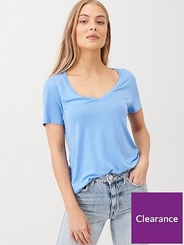 v-by-very-the-essential-v-neck-t-shirt-blue