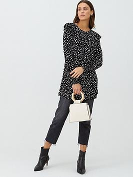 V by Very V By Very Frill Sleeve Printed Tunic - Polka Dot Picture