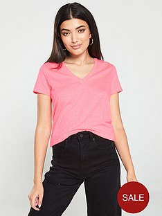 v-by-very-the-essential-basic-v-neck-t-shirt-neon-pink