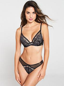 Gossard Gossard Encore Padded High Apex Bra - Black Nude Picture