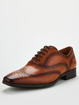 Office Office Macro Lace Up Brogue Shoes - Brown Picture