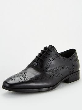 Office Office Macro Lace Up Brogue Shoes - Black Picture